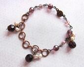 Royal Dreamz Burgundy Copper Bracelet with a Royal Color Theme