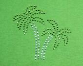 Palm Trees- Rhinestone - Bling T-Shirt- Lime Green- Adult Medium