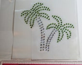 Palm Trees- Bling- Rhinestone Iron On