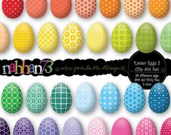 Easter Eggs 2 - Clip Art Set (PF-016)