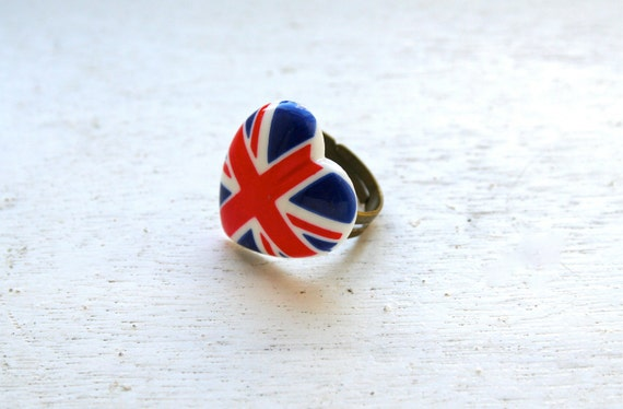 Union Jack Ring Cute Ring London Ring