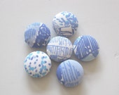 Set of 6 homemade magnets made with Lilly Pultizer fabric