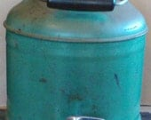 Antique Vintage Fully Ceramic Lined Steel Water Jug with Bakelite Cap, Free Shipping