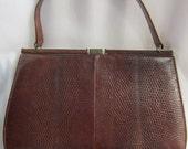 Vintage 1960s Mappin and Webb Lizard Handbag Purse