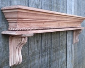 Fireplace mantle display shelf