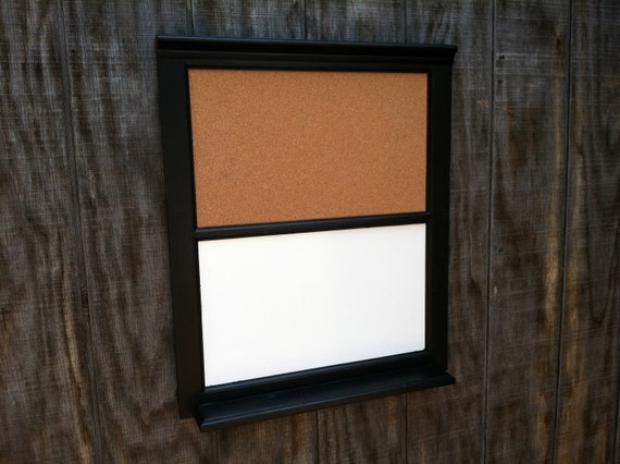 Black Custom built cork board - Dry Erase and Bulletin combo