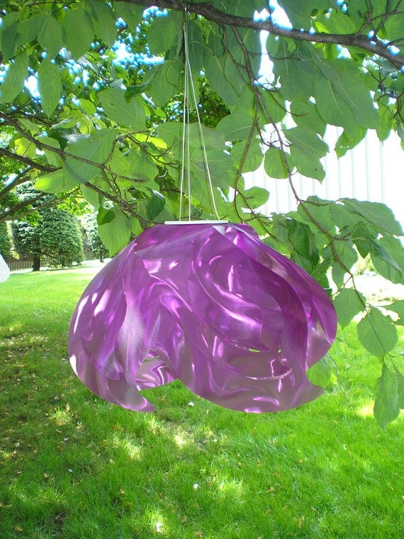 Ali Outdoor Solar-Powered Hanging Lamp in Purple (Large) - Celebrate October with FREE Shipping