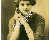 "Digital Download-Gorgeous Vintage Photo of 30s Gal-4"" x 6"""