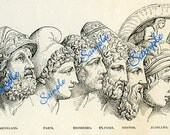 TREASURY ITEM-Digital Download-The Leaders- clipart from old hurt 19thc book