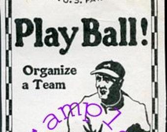 Digital Download-1920s Magazine Ad-Spalding Baseballs Clipart