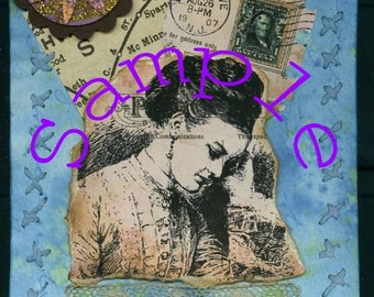 Handmade Mixed Media Collage-What a Day