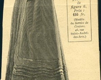 Digital Download-Vintage Clipart of a French Fashion Cape