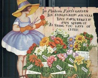 1929  Mistress Mary's Garden Calendar