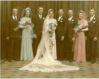 Digital Download-30's Wedding Party photo