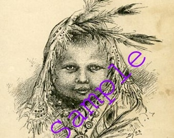 Digital Download-Clipart-Baby of the North-Indian Baby