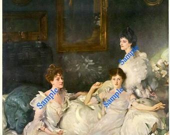 Digital Download-Vintage Art Print-The Wyndham Sisters by J.S. Sargent