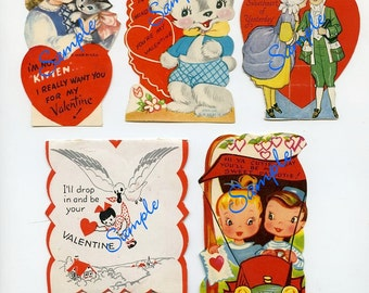 Digital Download-Vintage Valentine Collage Sheet2 for Collectors or Craft Projects