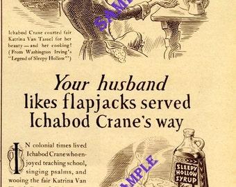Digital Download-1938 Sleepy Hollow Syrup Magazine ad