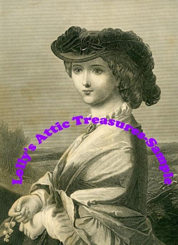 "Digital Download-Beautiful Vintage Book Print called ""Morning"""