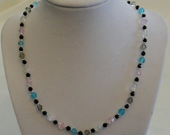 Pastel Crystal and SIlver Necklace