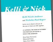 Kelli Horizontal Wedding Invite or Engagement Announcement Digital Download