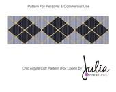 Loom Beading Pattern - Chic Argyle