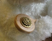 Steampunk-style Wood Hairstick or Shawl Pin with Clock Gears