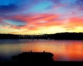 Sunrise over Georgia ----- Sunrise Photo, Fine Art Photography and Home Decor (5x7 inch print)