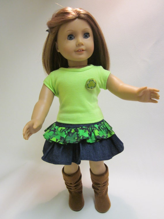 18 inch American Girl Doll Clothes - Holiday St. Patrick's Outfit