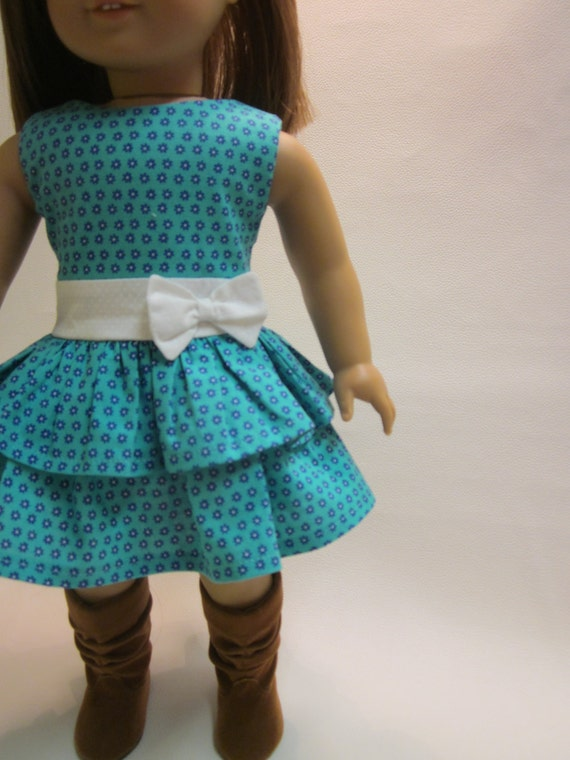 18 inch American Girl Doll Clothes - Easter Spring Dress