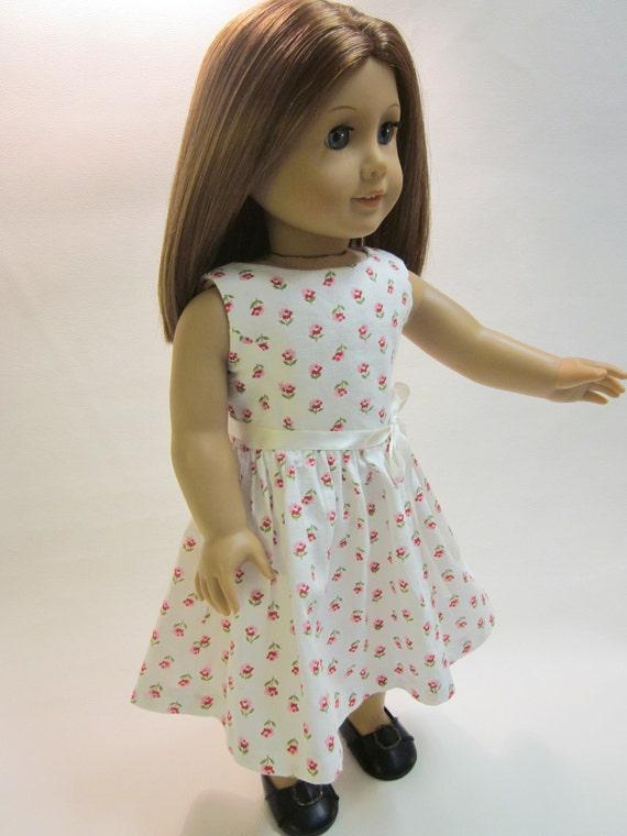 18 inch American Girl Doll Clothes - Sundress- sleeveless dress