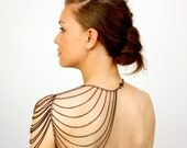 epaulette chain body jewelry // SPAULDER aka the cape