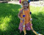 Rapunzel Hat Crochet Pattern PDF - Sizes 1 to Adult