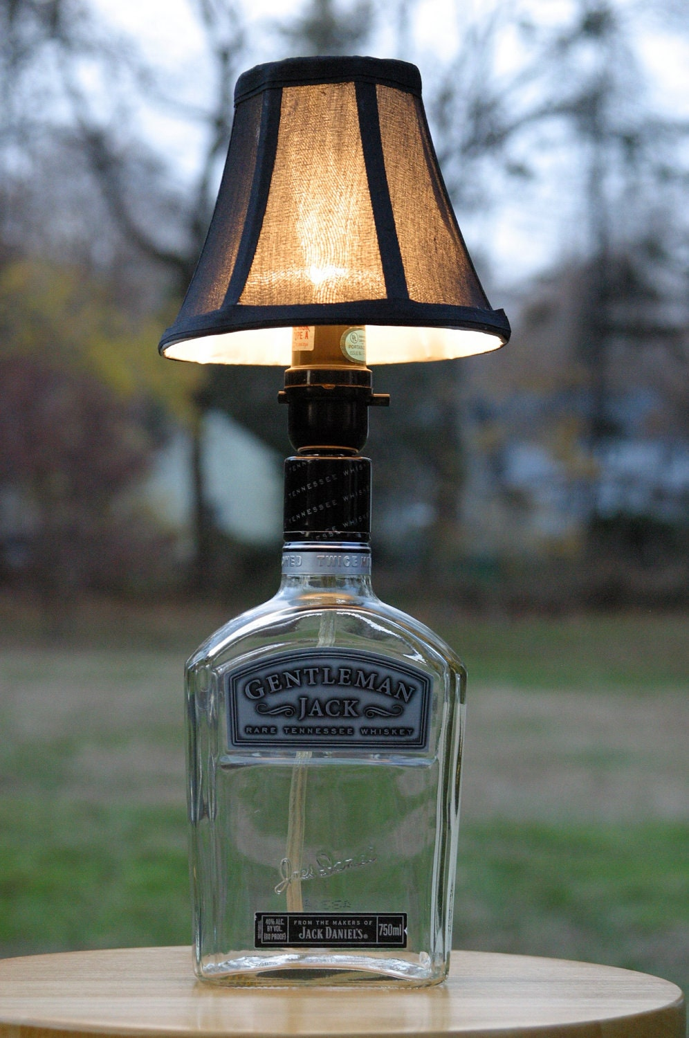 gentleman jack whiskey bottle lamp