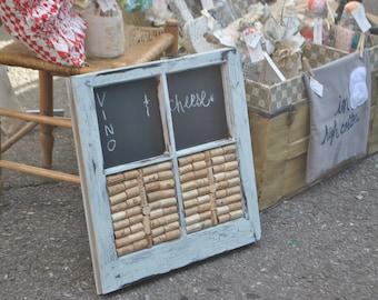 Wine Cork and Chalkboard Window