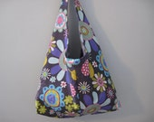 Hobo Bag Purse - Over the Shoulder Bag - Gray Pink Purple Blue White Green Yellow