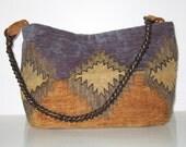Medium Navajo design tapestry hobo bag