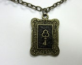 Steampunk  necklace skeleton key pendant antique bronze vintage style on chain Victorian Gothic jewelry womens accessories