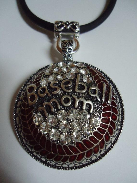 Baseball MOM Super Bling Necklace
