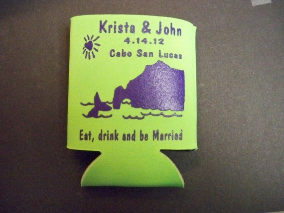 WEDDING FAVOR : Custom Koozie 25