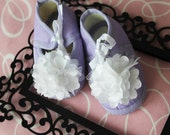 Purple Booties with flower toes