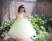Hydrangea Sash Tutu Dress - Customize colors, Flower girl, special occasion