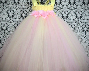 Pink Lemonade Tutu Dress- Springtime Collection