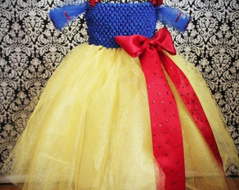 Snow White Tutu Costume - bling and glitz