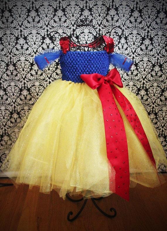 Snow White Tutu Costume - bling and glitz