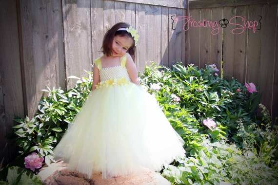 Hydrangea Sash Tutu Dress - Customize colors, Flower girl, special occasion