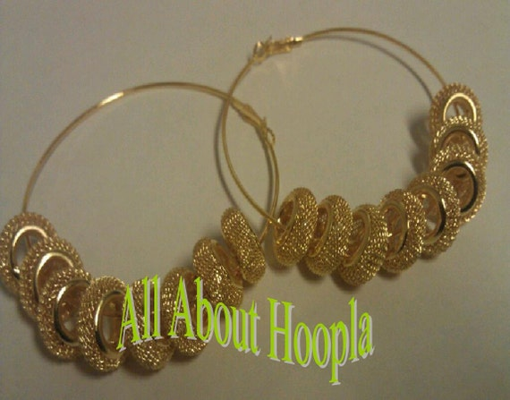 Basketball Wives 16pc- 16mm Gold Flat Mesh Bead