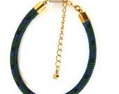 SALE: Hunter green paracord bracelet with gold hardware