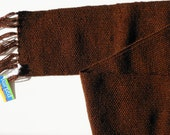 Handwoven Scarf- Brown Shimmer Scarf