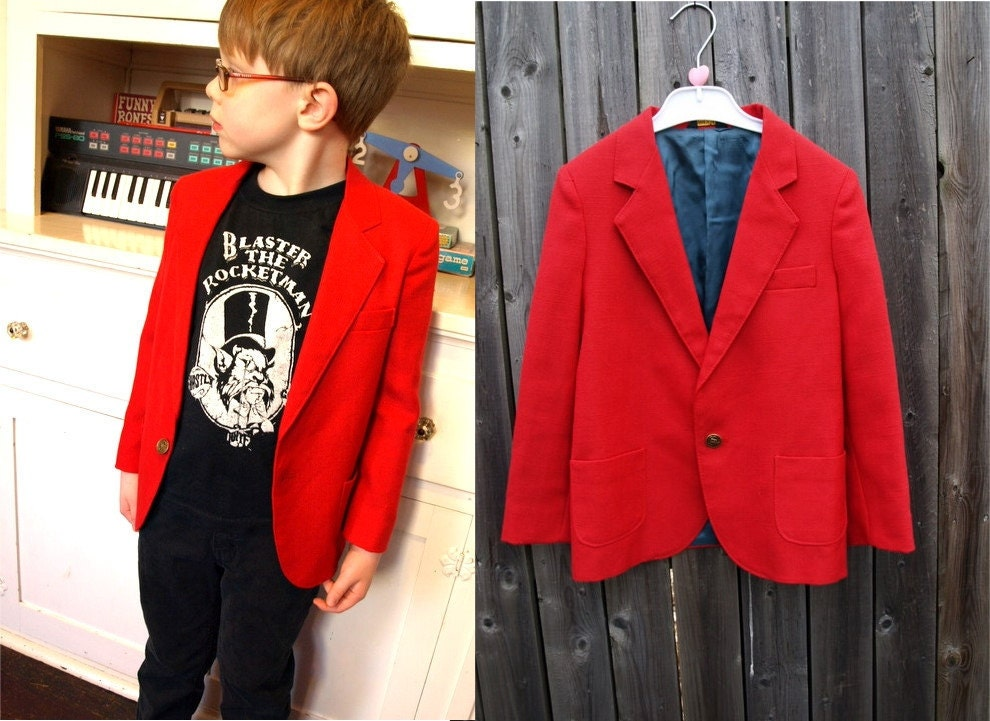 Collection Boys Red Blazer Pictures - Reikian